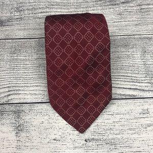Thomas Pink Geometric Shape Red Silk Tie